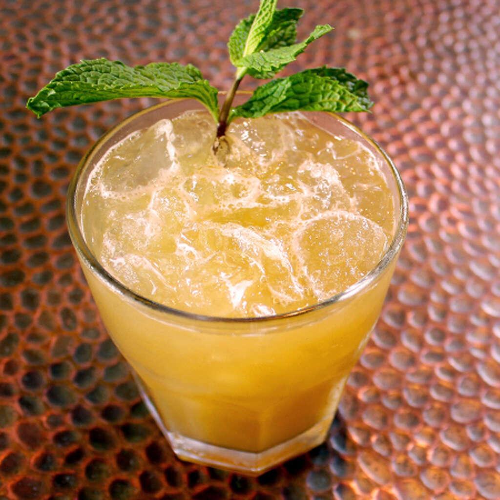 Spooky Sunset is made with Pura Vida Anejo Tequila, Naranja Orange Liqueur, agave nectar and lemon juice. Photo: Pura Vida Tequila