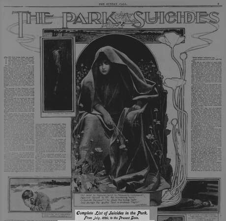 TheFeb. 25, 1900 edition of the San Francisco Call featured a spread on suicides in Golden Gate Park. Photo: San Francisco Call/Archives