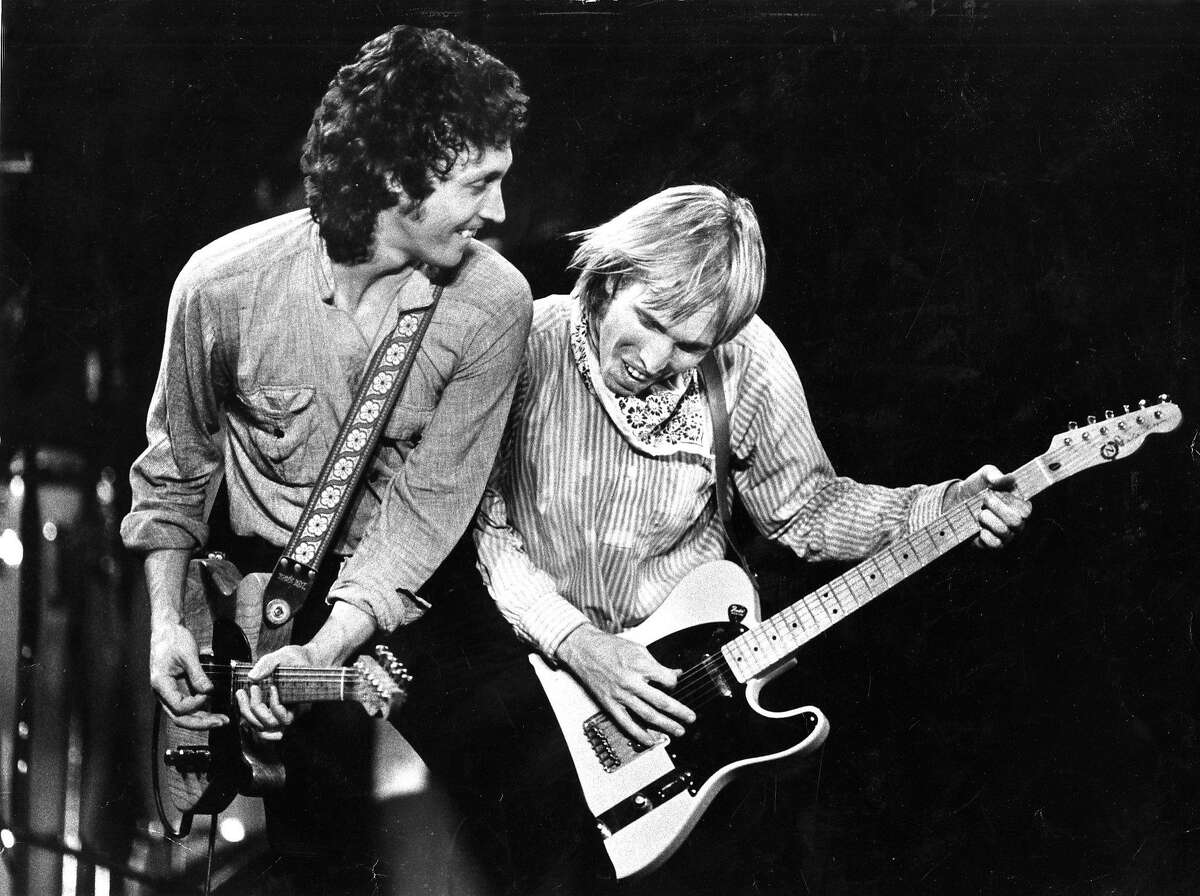 June 29, 1981: Mike Campbell and Tom Petty perform at a Tom Petty and the Heartbreakers show in the Bay Area.