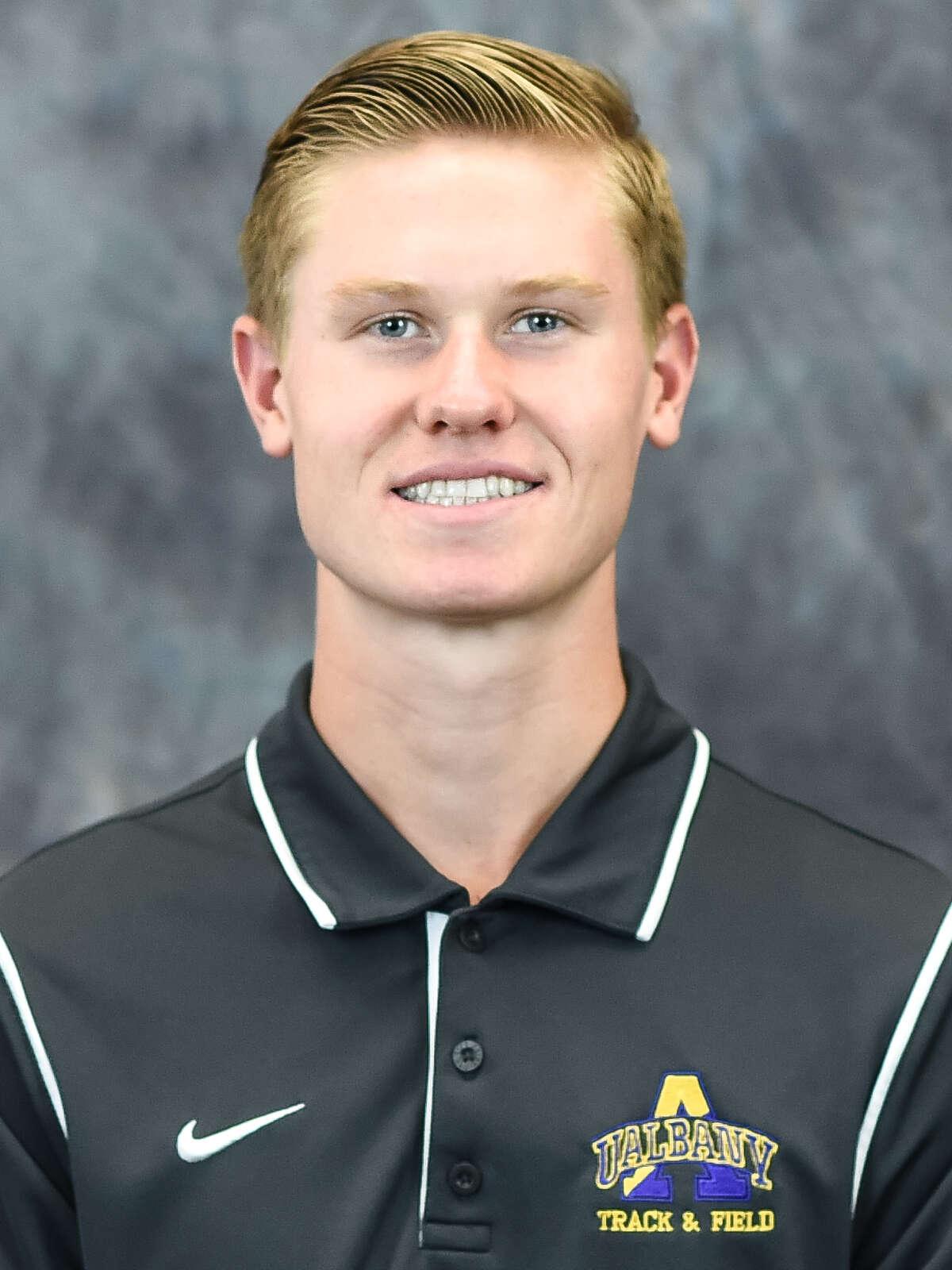 Columbia High School graduate Kyle Gronostaj of the UAlbany men's cross country team. (Bill Ziskin / UAlbany Athletics)