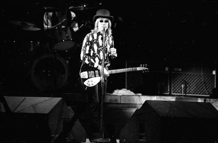 Tom Petty and the Heartbreakers playing at the Greek Theatre in Berkeley July 26, 1985 Photo: Tom Levy, The Chronicle