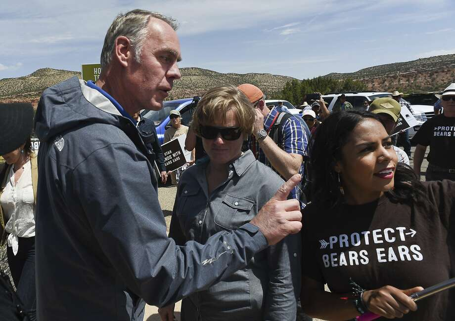 Interior Secretary Ryan Zinke tours Bears Ears National Monument in southeastern Utah in May. Photo: Francisco Kjolseth, Associated Press