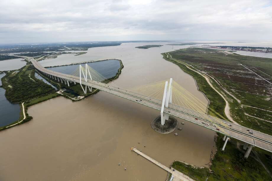 The Fred Hartman Bridge is shown in the aftermath of Tropical Storm Harvey on Wednesday, Aug. 30, 2017, in Houston. ( Brett Coomer / Houston Chronicle ) Photo: Brett Coomer/Houston Chronicle