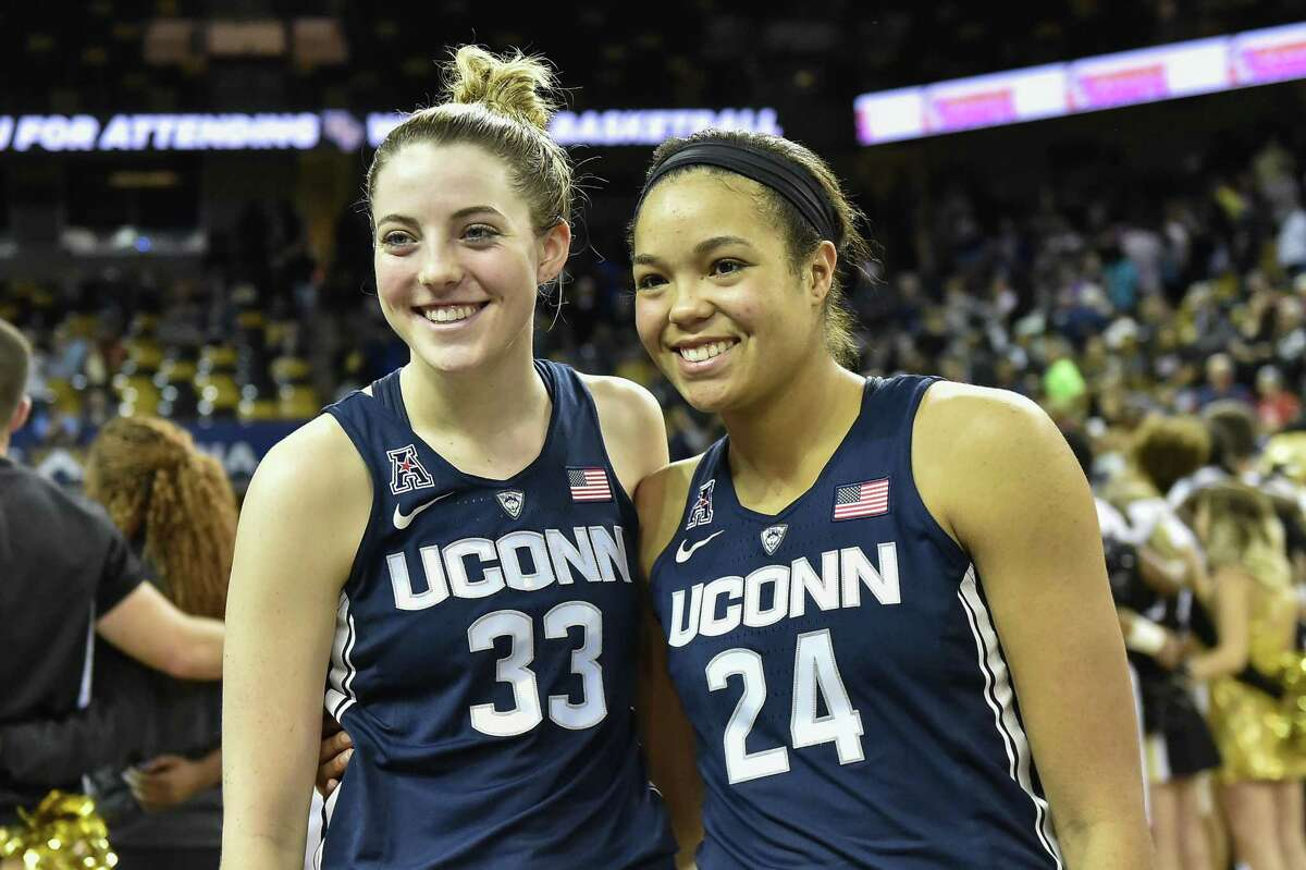 UConn's Katie Lou Samuelson, left, and Napheesa Collier recently took part in the U.S. senior women's national team training camp.