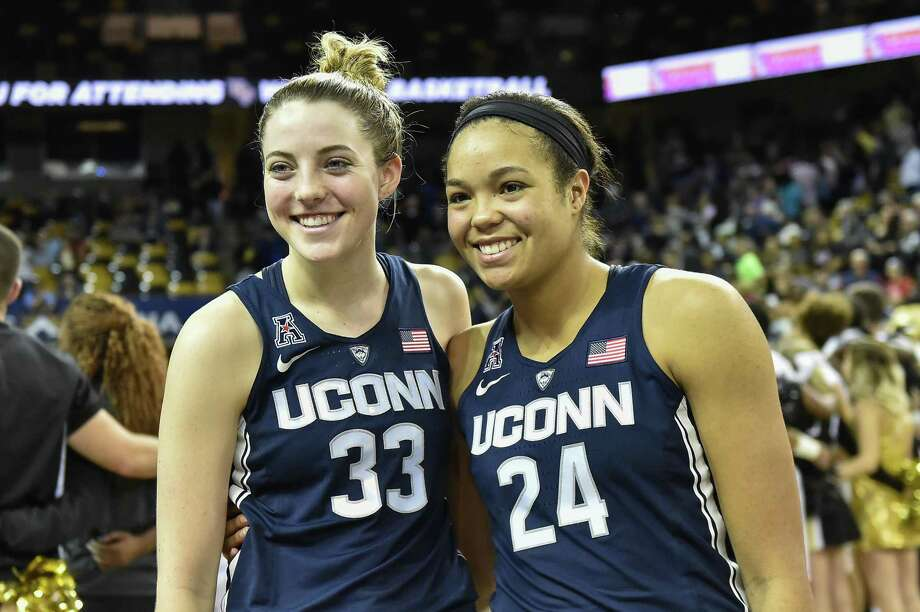 UConn's Katie Lou Samuelson, left, and Napheesa Collier recently took part in the U.S. senior women's national team training camp. Photo: Associated Press File Photo / FR171497 AP