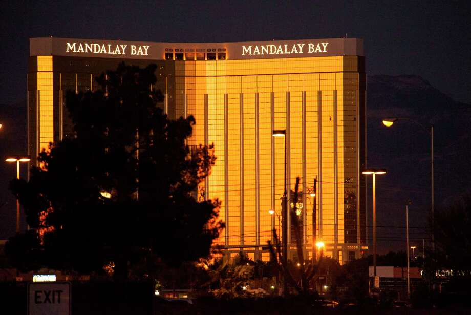 Alleged shooter Stephen Paddock shot from the 32nd floor of the Mandalay Bay Resort and Casino hotel into a crowd at the Route 91 Harvest Festival on the Las Vegas Strip. (Yasmina Chavez/Las Vegas Sun via AP) Photo: Yasmina Chavez, MBO / LV Sun