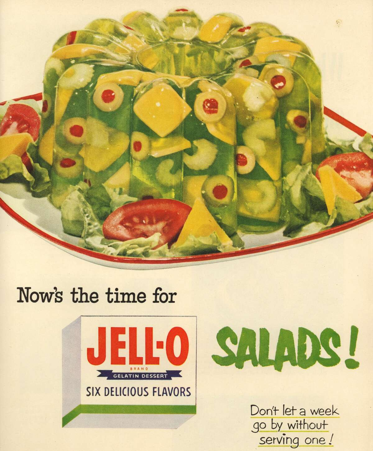 1. I love to cook and bake but don't ever ask me to include Jello in a recipe, or canned beets -- two foods I simply hate. Need I say more?