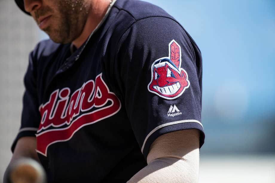 MINNEAPOLIS, MN- JULY 17: The Cleveland Indians logo on a sleeve patch of the uniform against the Minnesota Twins on July 17, 2016 at Target Field in Minneapolis, Minnesota. The Indians defeated the Twins 6-1. (Photo by Brace Hemmelgarn/Minnesota Twins/Getty Images) *** Local Caption *** Photo: Brace Hemmelgarn/Getty Images