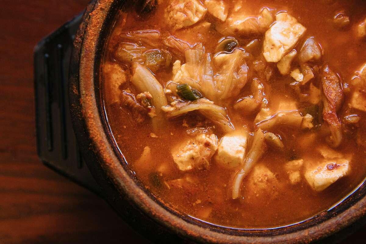 Kimchi tofu soup at My Tofu House.