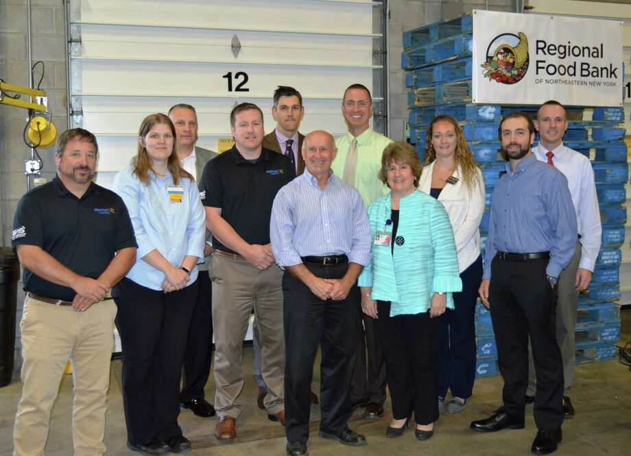 On Sept. 28 representatives from Price Chopper, Hannaford, Walmart, ShopRite, and BJ?s came together in the Regional Food Bank warehouse to commemorate the 25th anniversary of the Retail Store Donation Program.
