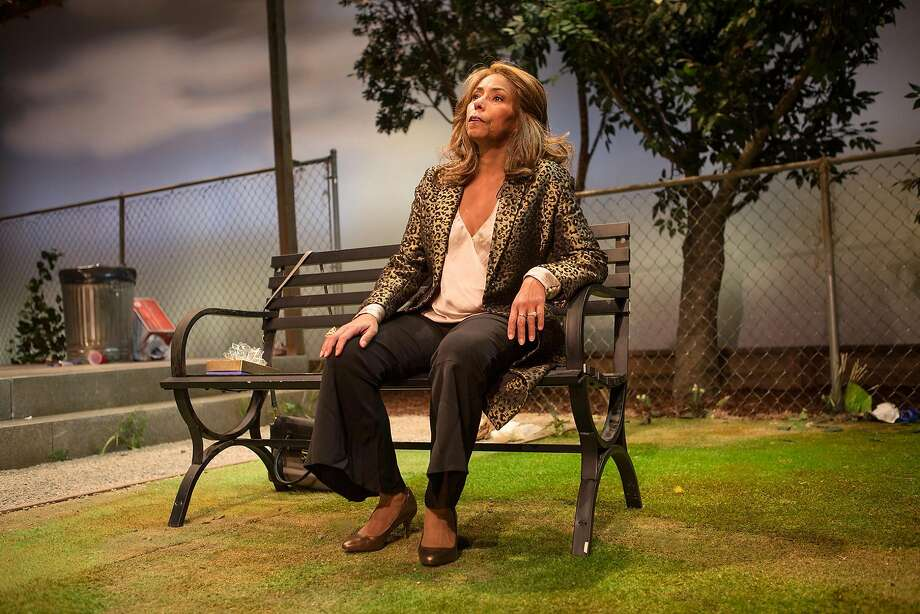 "Barbara (Margo Hall) reflects on her life in ""Barbecue"" at San Francisco Playhouse. Hall also directs the show. Photo: Jessica Palopoli, San Francisco Playhouse"