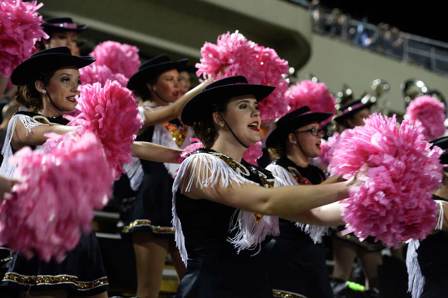 Vidor's drill team dances during their football game against Ozen at the Thomas Center on Monday night.  Photo taken Monday 10/2/17 Ryan Pelham/The Enterprise Photo: Ryan Pelham / ©2017 The Beaumont Enterprise/Ryan Pelham