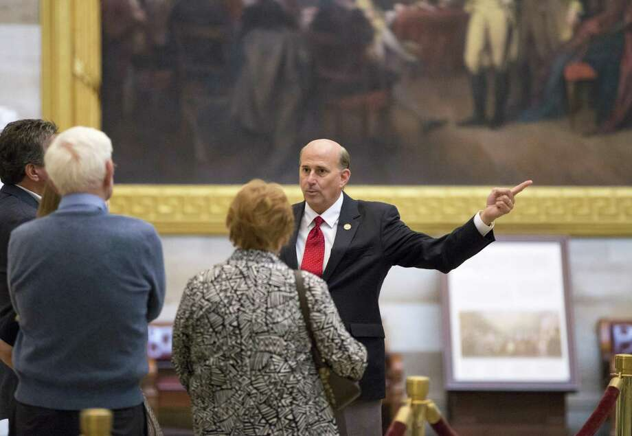 Rep. Louie Gohmert, R-Texas, escorts a group of constituents through the Capitol Rotunda during a lull in activity in the House of Representatives. A reader criticizes Gohmert for his recent attacks on Sen. John McCain. Photo: J. Scott Applewhite /Associated Press / AP