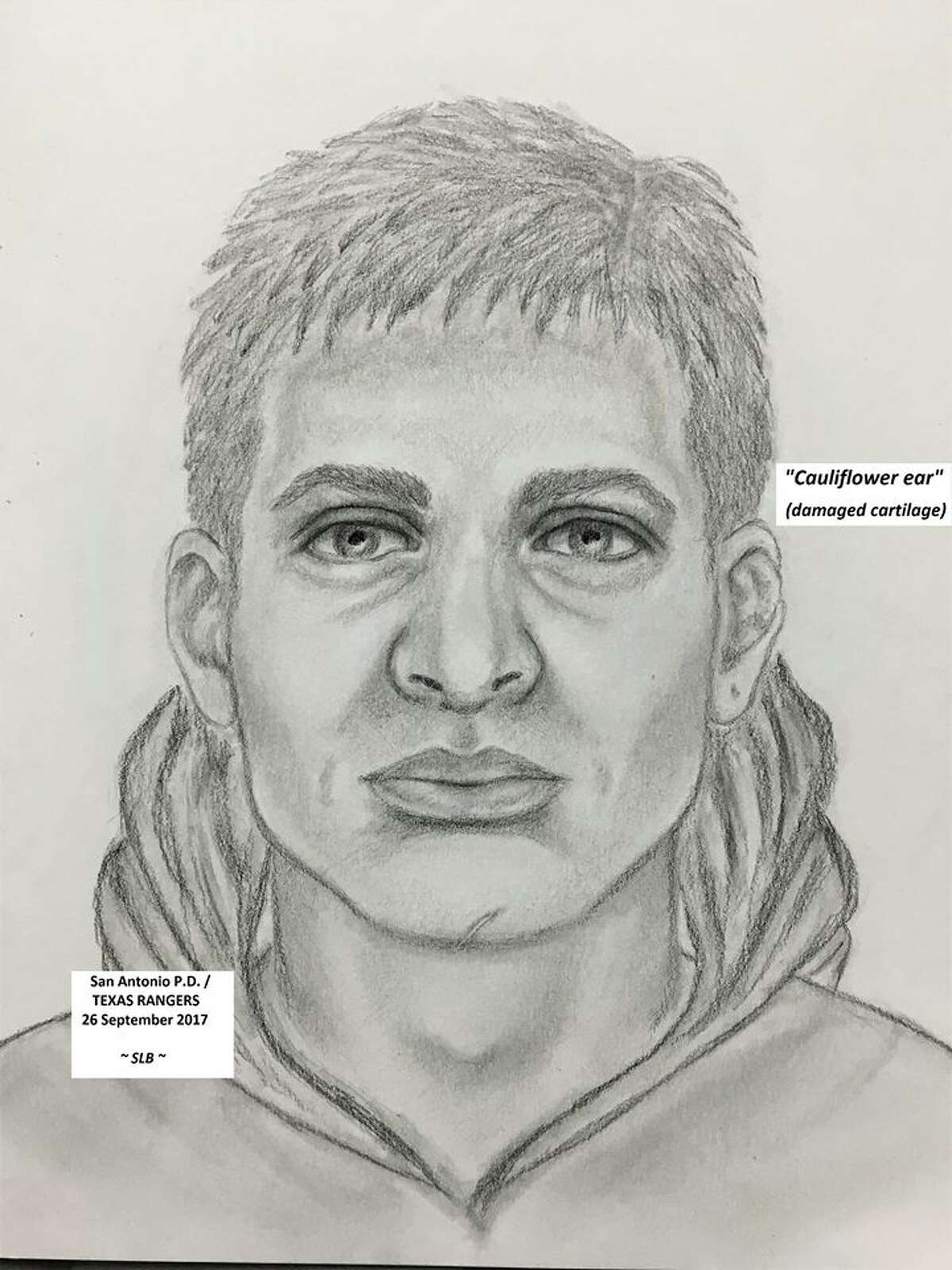 """The suspect is described as about 5 feet 9 inches to 6 feet 1 inch tall. He has a strong, stocky build with light colored hair in """"messy layers."""""""