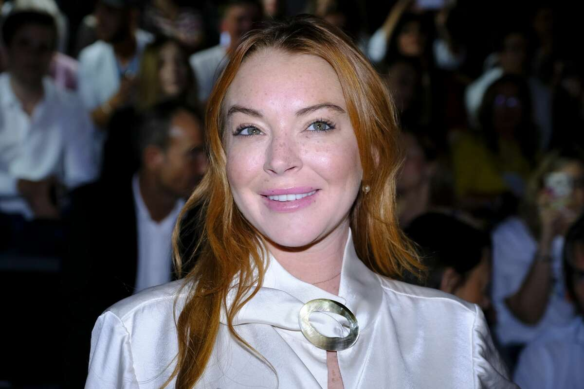 Actress Lindsay Lohan attends the first day ofMadrid Fashion Week in Madrid, Spain on Sept. 1, 2017.