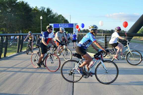 Riders at a previous year's Park to Port bike ride.