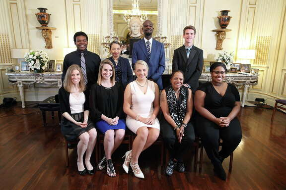 The scholarship recipients of this year's Music Doing Good President's Leadership Council. These students received 4 year scholarships to University of Houston, St. Thomas and Texas Southern University, and two year scholarships to Houston Community College.