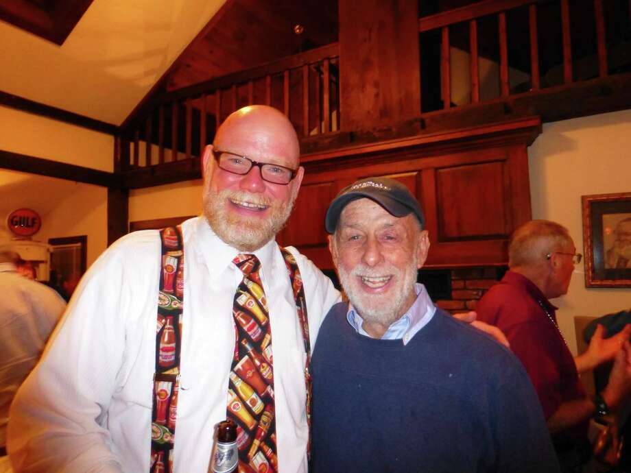 Jeff Barnhart, a well known pianist, vocalist and entertainer in jazz festivals all over the USA and Joel Schiavone, entertainer extraordinaire and Banjo Hall of Famer, hosts the party at the Elks Club in Branford. Photo: Contributed Photo / Not For Resale