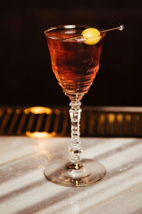 Pink manhattan at Biig in S.F. Photo: Mason Trinca, Special To The Chronicle
