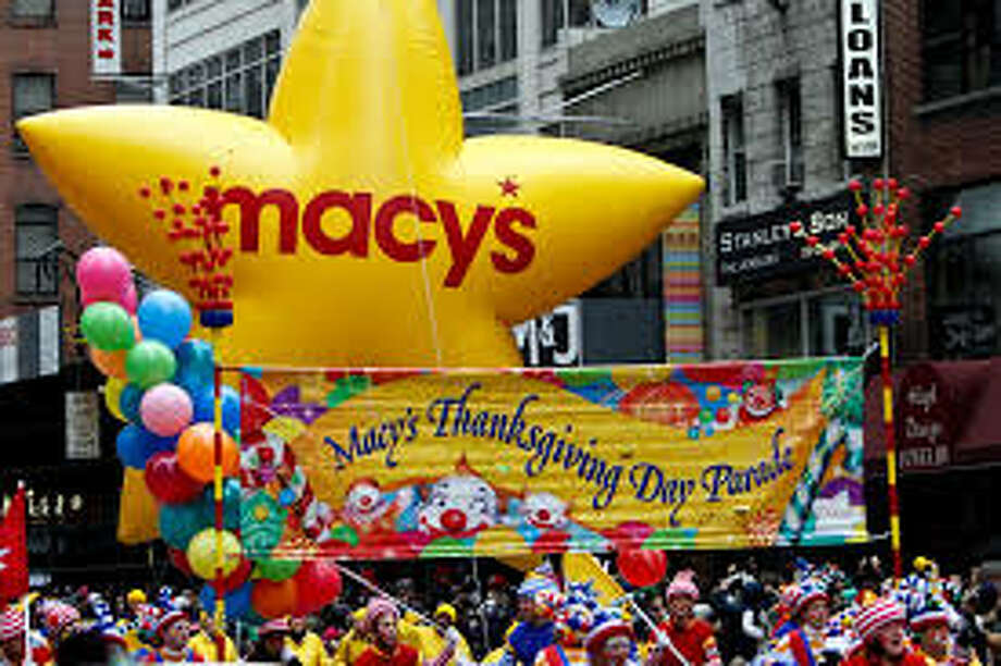 I marched in the Macy's Thanksgiving Day parade alongside Usher. He winked at me — and pretty much every other female on the float. Photo: Kristi Gustafson Barlette