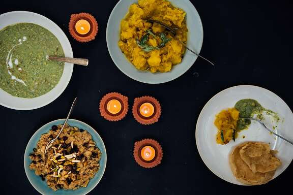 Dishes for a Diwali feast