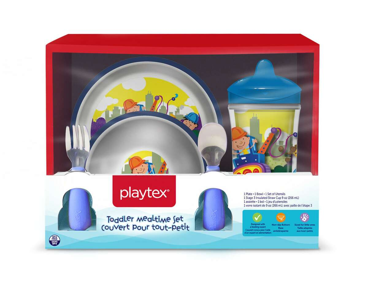 Shelton-based Playtex is recalling children's plates and bowls because the clear plastic layer over the graphics can peel or bubble from the surface of the plates and bowls, posing a choking hazard to young children. Photos courtesy of the Consumer Product Safety Commission.