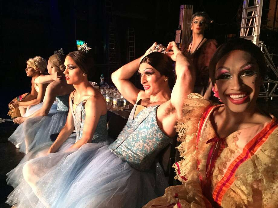 """Rebels on Pointe"" goes backstages with the Trocks — the drag ballet company Les Ballets Trockadero de Monte Carlo. Photo: Bobbi Jo Hart"
