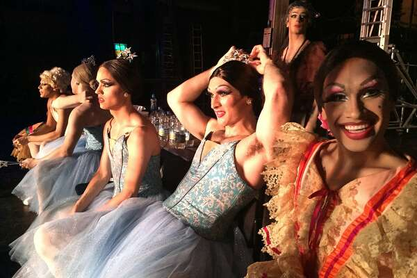 Go backstage with the Trocks in �Rebels on Pointe,� a documentary feature about the beloved male-drag ballet company Les Ballets Trockadero de Monte Carlo. Photo: Bobbi Jo Hart.