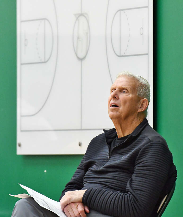 Bill Parcells, who led the New York Giants to a pair of Super Bowl titles, visited the Alumni Recreation Center today. (John Carl D'Annibale)