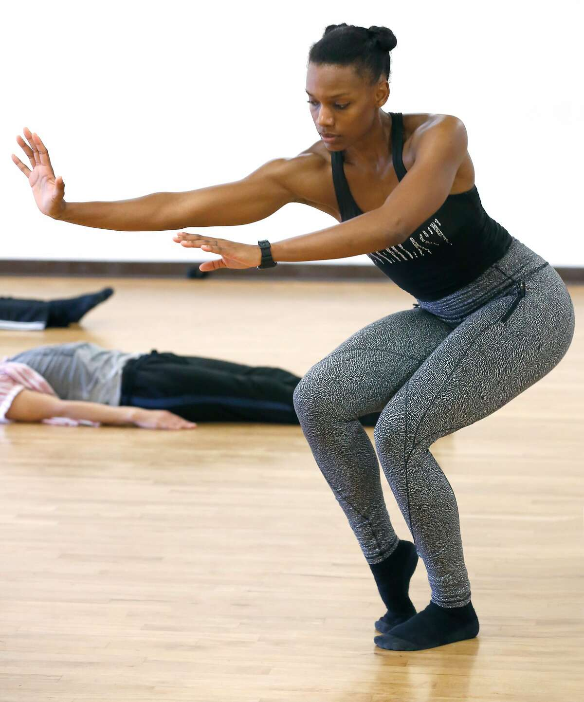 Modern dancer Crystaldawn Bell, a member of Robert Moses' Kin since 2010 during a rehearsal for Robert Moses� Kin�s upcoming season,on Monday, September 18, 2017, in San Francisco, Calif.