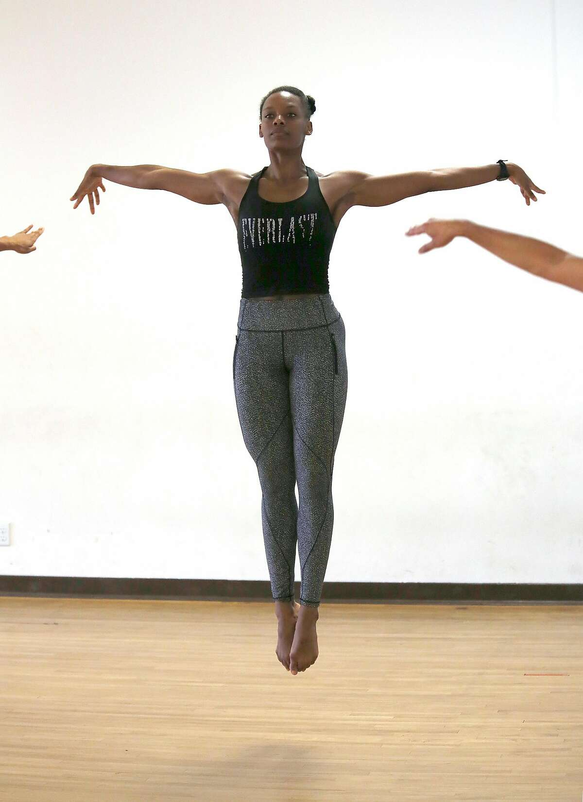 Modern dancer Crystaldawn Bell, a member of Robert Moses Kin since 2010, during a rehearsal for Robert Moses� Kin�s upcoming season,on Monday, September 18, 2017, in San Francisco, Calif.