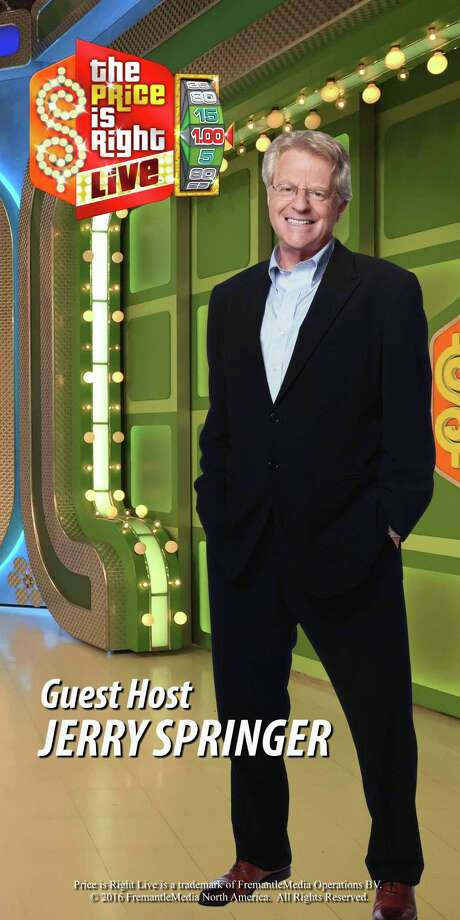 Jerry Springer will be the guest host of The Price is Right at the Palace in Waterbury. Photo: Contributed Phot