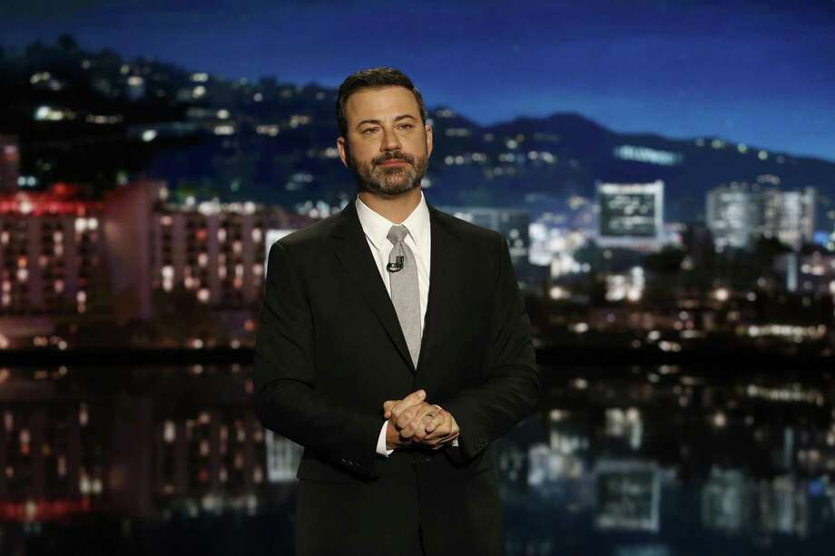 Jimmy Kimmel delivered an emotional monologue that reflected the shock, sorrow and anger people felt in the wake of the mass shootings in Las Vegas. Photo: Randy Holmes /ABC / © 2017 American Broadcasting Companies, Inc. All rights reserved.