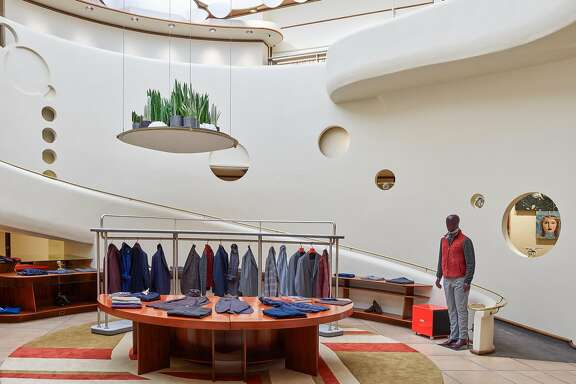 Isaia, the Italian menswear brand, has opened a stand-alone boutique in the Frank Lloyd Wright building on Maiden Lane in San Francisco.
