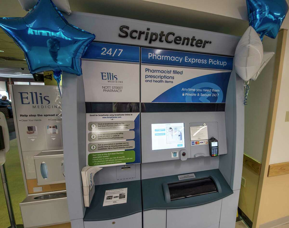 The new Script Center installed and part of the new Nott Street Pharmacy which opened today, Tuesday Oct. 3, 2017 at the Ellis Hospital in Schenectady, N.Y. (Skip Dickstein/Times Union)