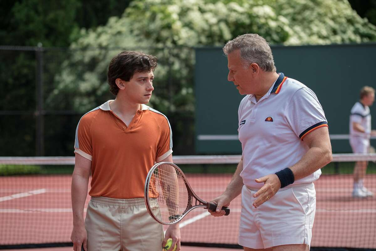 Craig Roberts as David Meyers and Paul Reiser as Getty in Amazon Original Series Red Oaks