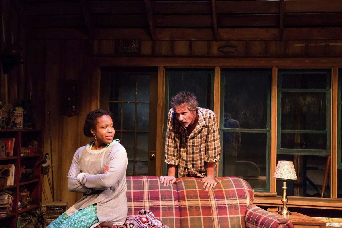 """Lynette R. Freeman and Quentin Maré in """"Lost Lake"""" at Berkshire Theatre Group. (BTG publicity photo by Emma Rothenberg-Ware.)"""