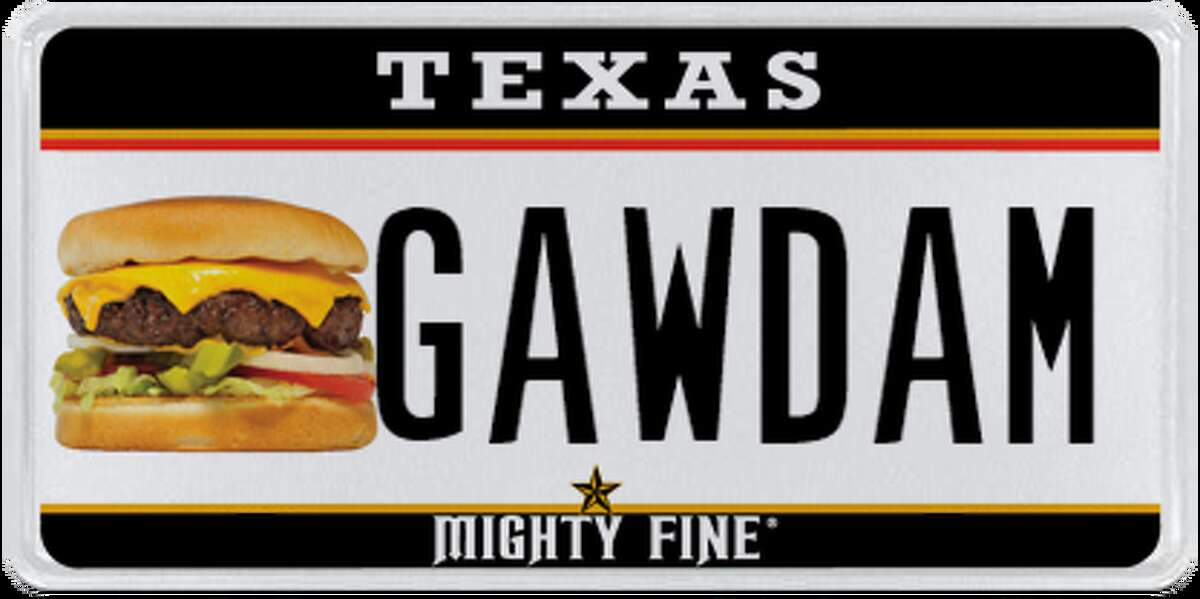 License plates rejected by the Department of Motor Vehicle in June, 2017.