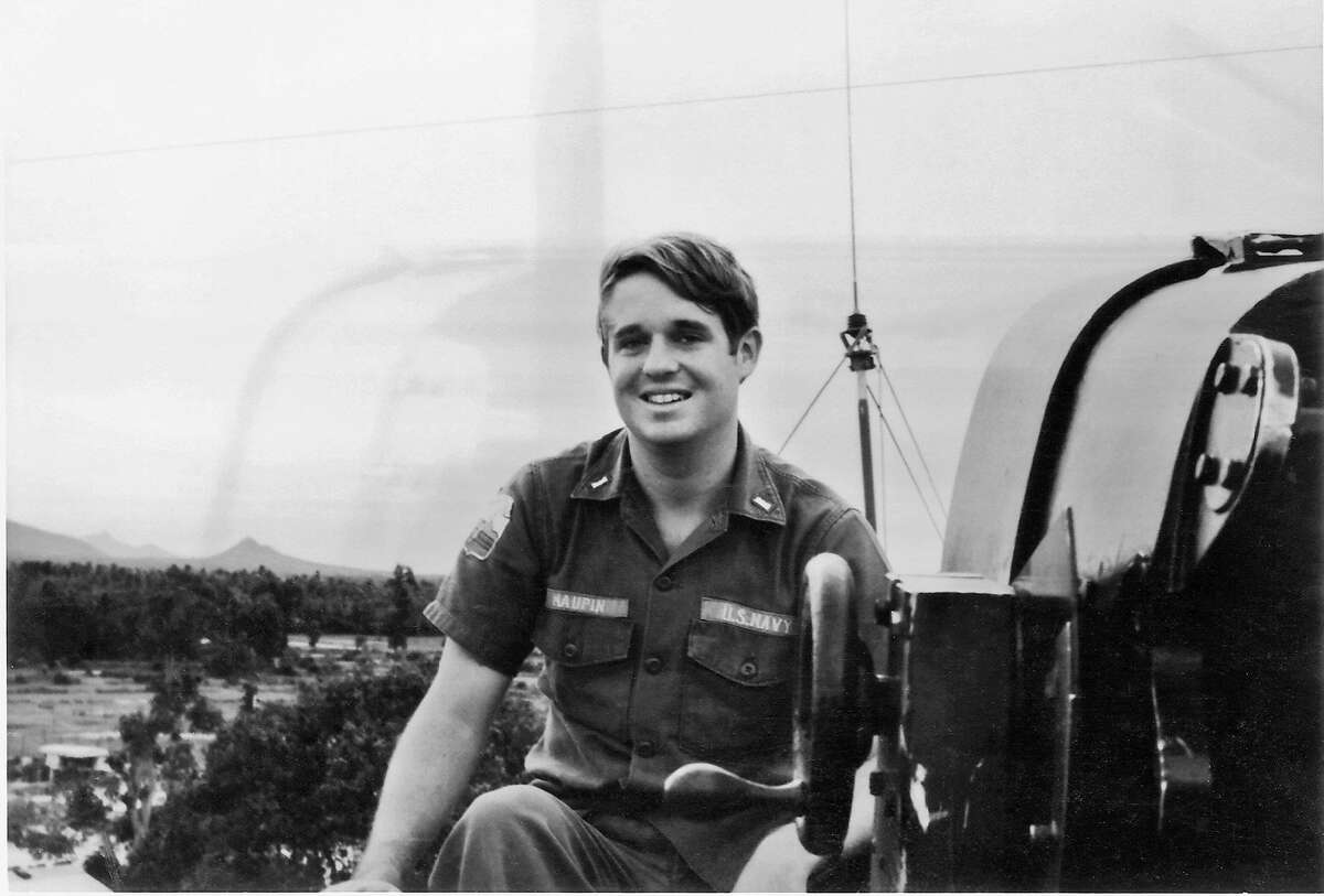 In the Navy: Armistead Maupin during the Vietnam War.