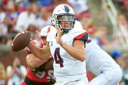 Bryant Shirreffs is the first UConn quarterback to pass for more than 400 yards in back to back games and his 814 passing yards in the last two games in the best two-game total in program history.