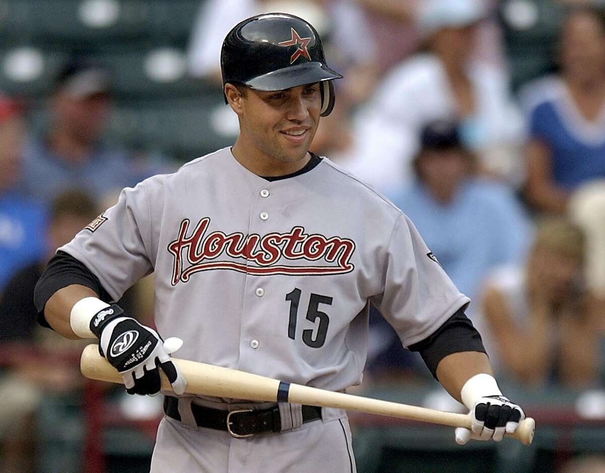 Carlos Beltran, Outfield Years with Astros: 2004, 2017 Beltran played two stints with the Astros. The first came in 2004 when he produced electric hitting numbers during the 2004 MLB Playoffs. However, during the offseason, he signed a free-agent deal with the Mets. Beltran would return to Houston in 2017 and helped the club capture a World Series title. (AP Photo/Tony Gutierrez)