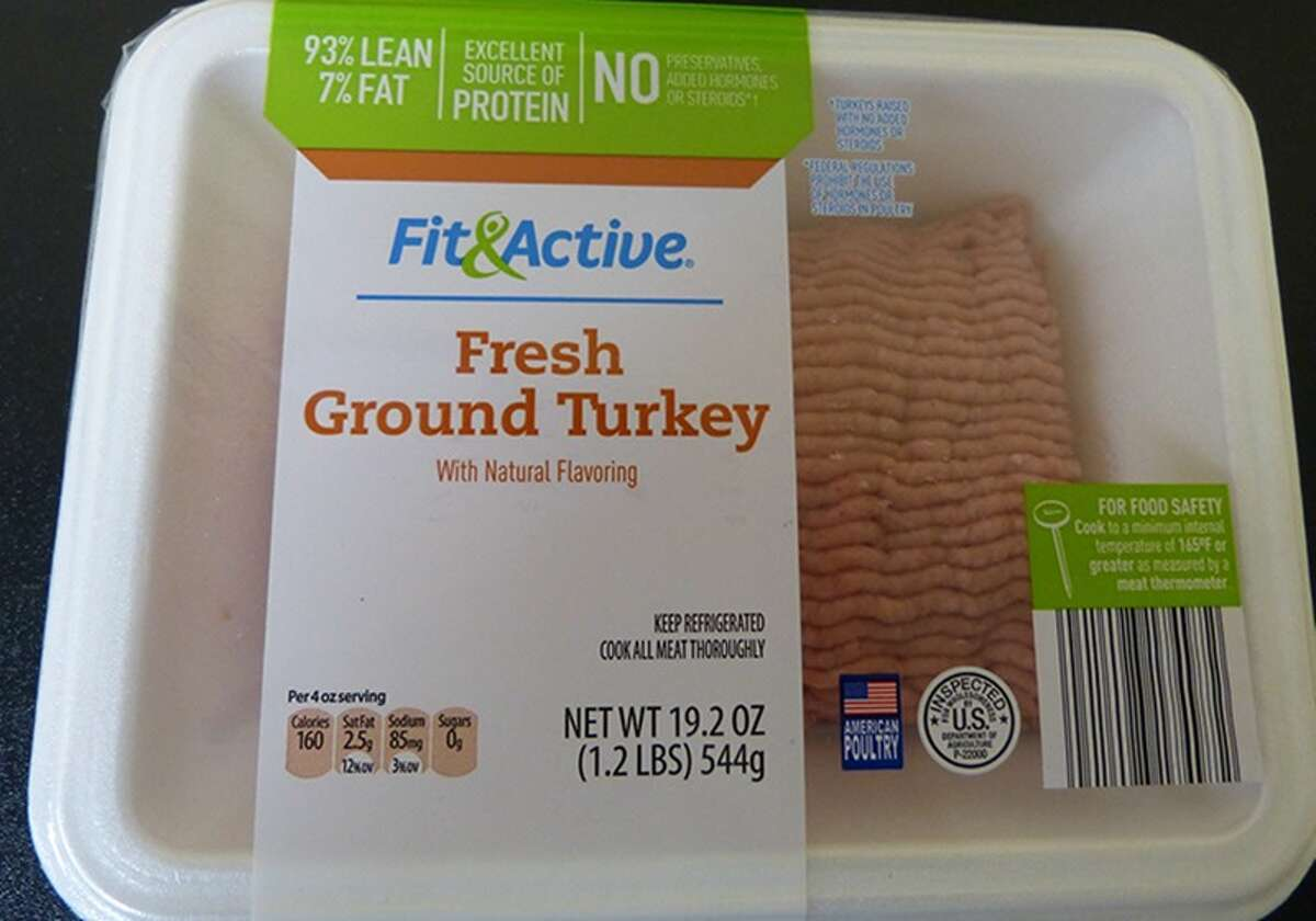 """The federal Department of Agriculture recalled nearly 38,500 pounds of ground turkey, including some packages recently sold in Aldi stores in New York, on Oct. 3, 2017. Fit & Active fresh ground turkey with natural flavoring may be contaminated by """"extraneous material,"""" the USDA's Food Safety and Inspection Service said."""