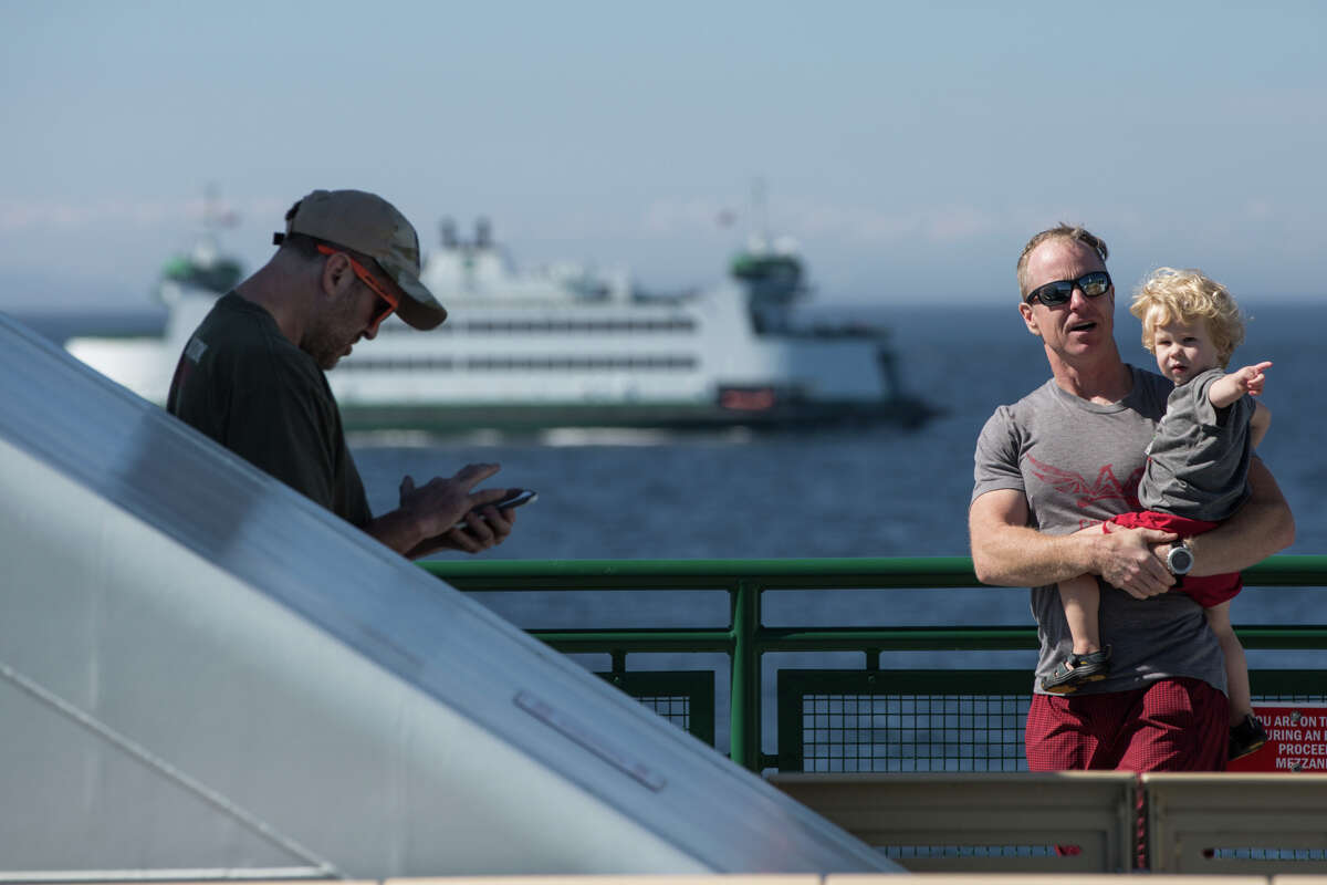 Two-hour Whidbey Island ferry lines returned for Mother's Day, a pandemic pushed aside on a weekend that is often busier than Memorial Day or Labor Day.