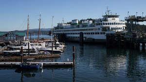 The Hyak docks at Friday Harbor on Sept. 28, 2017.