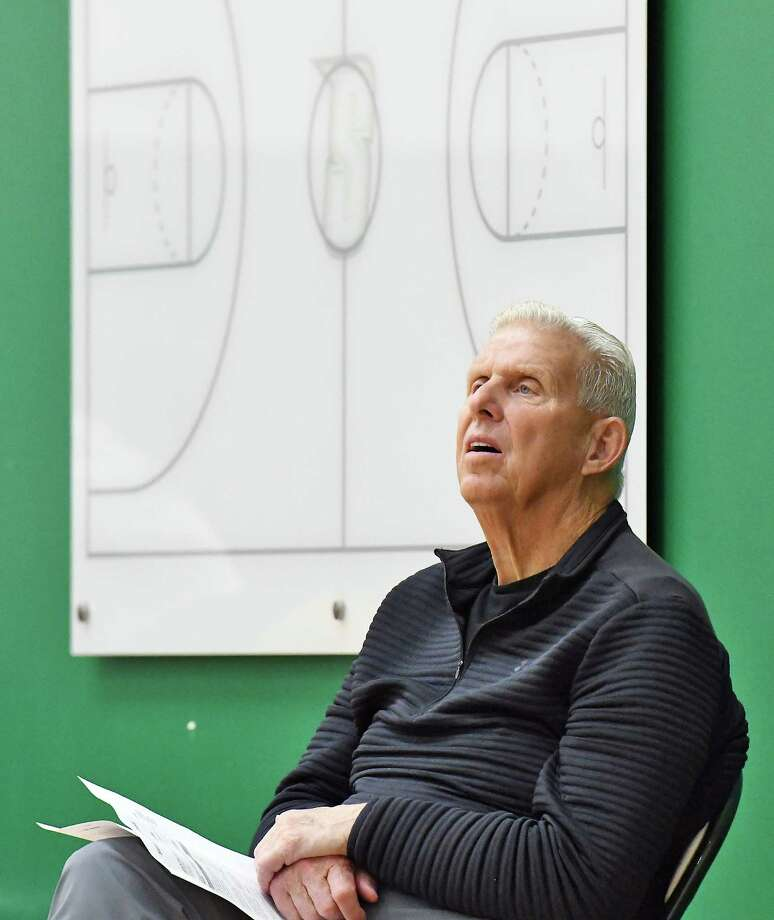 Hall of Fame coach Bill Parcells watches Siena men's basketball practice Tuesday Oct. 3, 2017 in Colonie, NY.  (John Carl D'Annibale / Times Union) Photo: John Carl D'Annibale / 20041738A