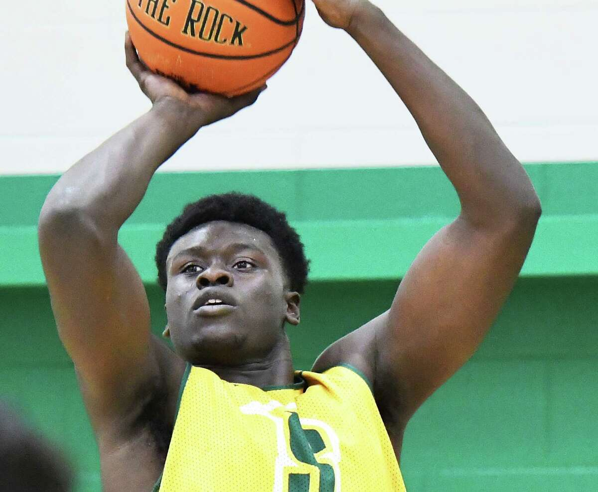 Siena freshman center Prince Oduro during practice Tuesday Oct. 3, 2017 in Colonie, NY. (John Carl D'Annibale / Times Union)