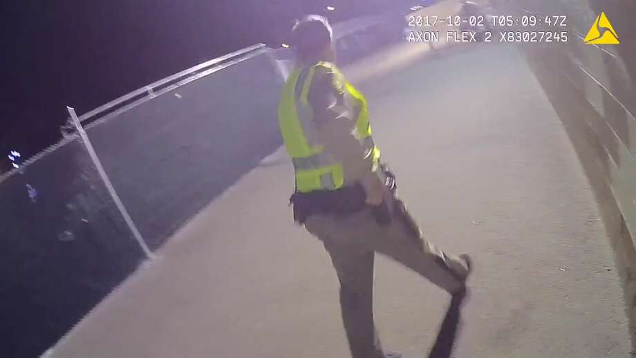 Body-worn camera footage of the mass shooting is Las Vegas is released by the Las Vegas Metropolitan Police Department on Tuesday, October 3, 2017. Photo: LVMPD