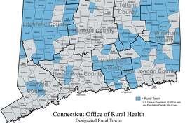 """In Connecticut, 68 out of 169 municipalities are classified as """"rural"""" based on total population and the number of people per square mile. About 9 percent of the state's population lives in these rural towns."""