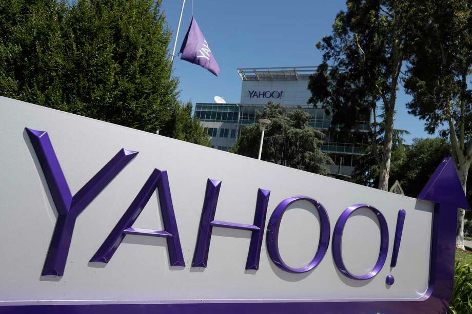 This Tuesday, July 19, 2016, photo shows a Yahoo sign at the company's headquarters in Sunnyvale, Calif. On Tuesday, Oct. 3, 2017, Yahoo tripled down on what was already the largest data breach in history, saying it affected all 3 billion of its users, not the 1 billion it revealed in late 2016. (AP Photo/Marcio Jose Sanchez) Photo: Marcio Jose Sanchez, STF / Copyright 2017 The Associated Press. All rights reserved.