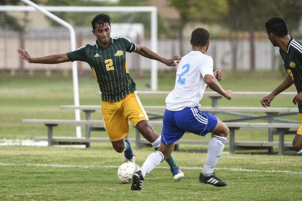 Laredo Community College's Alan Reyna and the Palominos edged Coastal Bend 2-1 on Tuesday at LCC's South Campus.